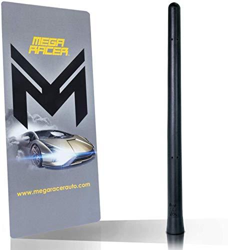 Mega Racer Flexible Car Antenna - 7 Inch Rubber Antenna Replacement, AM/FM Radio...