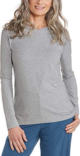 Coolibar Damen V-Hals T-Shirt, Grau, 38/S