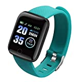 Dheera 116 Plus Color Screen Smart Watch, Heart Rate Blood Pressure IPX7 Waterproof Fitness Tracking Watch, Great Gift for Children, Friends