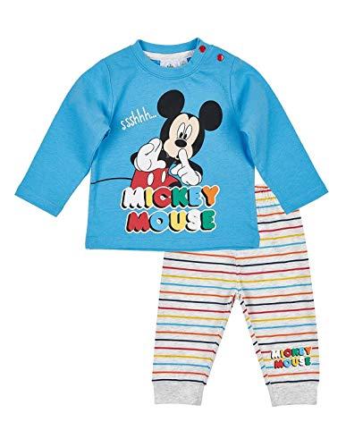 Ensemble Pantalon et t-Shirt bébé garçon Mickey Bleu/Gris de 3 à 24mois - Bleu/Gris, 24 Mois