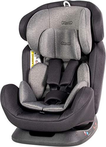Booboo Fino Kinderautositz und Reboarder für alle Altersklassen - Gruppe 0+/1/2/3 (0-36 Kg) Dark Grey Melange
