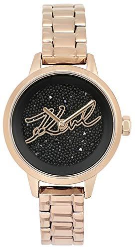 Karl lagerfeld Jewelry ikonik Damen Uhr analog Quarzwerk mit Edelstahl Armband 5513070