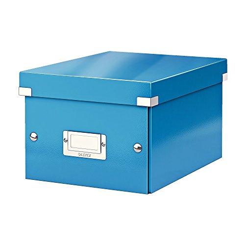 Leitz, Kleine Aufbewahrungs- und Transportbox, Blau, Mit Deckel, Für A5, Click & Store, 60430036