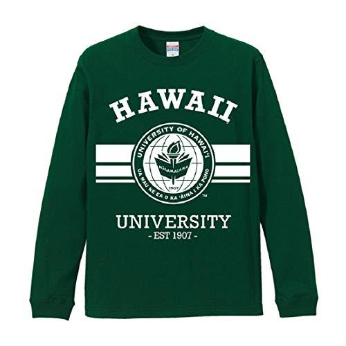 ハワイ大学 長袖Tシャツ ロングスリーブス ロンT[正規品/クラシックシール] (グリーン, XL)