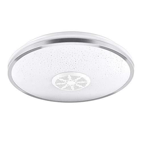Luces de techo redondas de 36 W regulables para salón, iluminación con altavoz Bluetooth y mando a distancia, cambio de color y lámpara de techo para interior