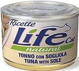 lifecat natural le ricette per gatto da 150gr, tonno e sogliola