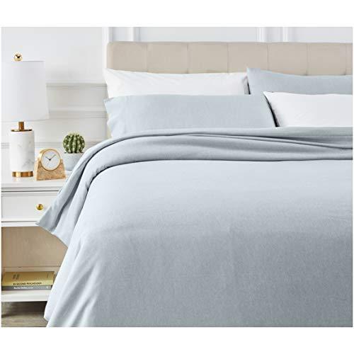 AmazonBasics - Juego de ropa de cama con funda de edredón, de microfibra, 200 x 200 cm, Vaquero(Denim Wash)