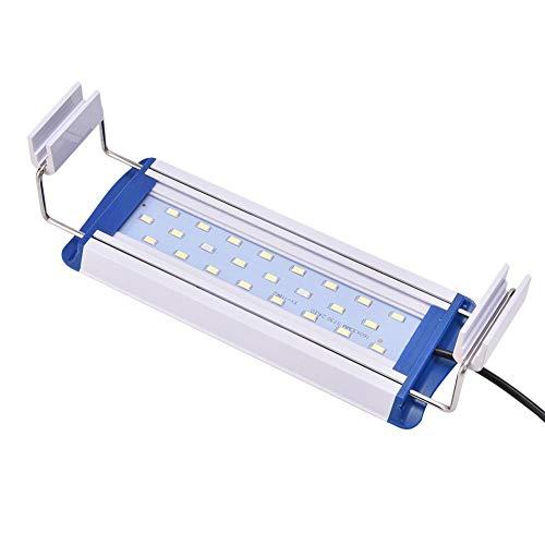 Aquarium LED Lumière 220 V Fish Tank Plants Éclairage Lampe Extensible Aquarium Support Lampe Fish Tank Clip sur Lumière Plante Aquatique LED Lumière(12W)