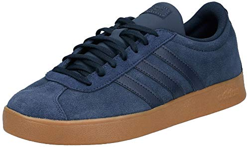 adidas Men's Vl Court 2.0 Skateboard Shoes Blue Size: 8 UK