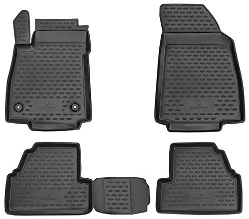 Walser XTR Gummifußmatten kompatibel mit Opel Mokka 06/2012-2017, passgenaue Auto Gummimatten, Autofußmatten Gummi