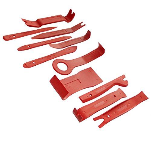 Aerzetix: gereedschapsset voor demontage van autoradio. Set met 11 gereedschappen C40110.
