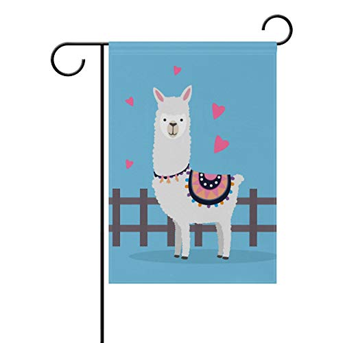 LIANCHENYI schöne Alpaka-Flagge, doppelseitig, für den Außenbereich, Polyester, 30,5 x 45,7 cm