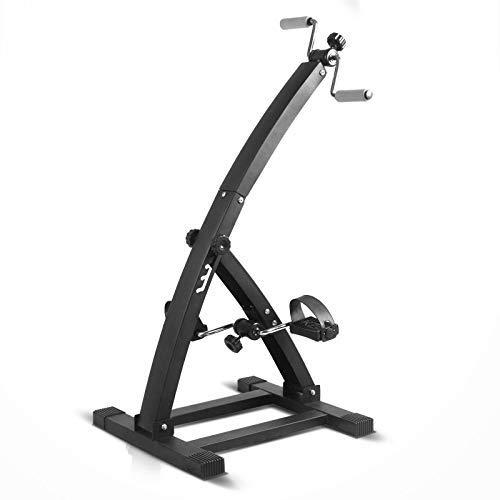 Office Fitness Deluxe Plegable Pedal ejercitador Ejercicio Vendedor Ambulante Máquina para piernas Ejercicio para Brazos y piernas Máquina Vendedor Ambulante Bicicleta estática Plegable Ciclo de escr