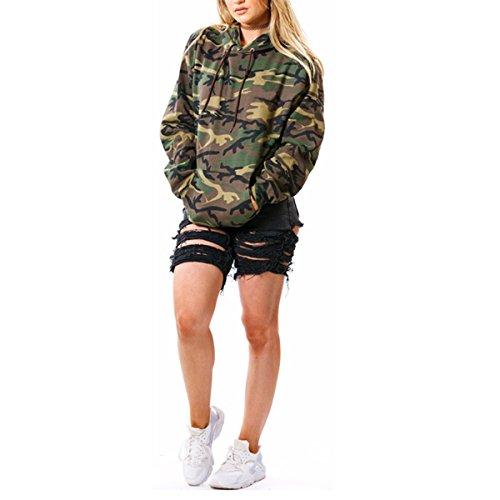 Taiduosheng Damen Sweatshirt mehrfarbig camouflage Gr. 42, camouflage