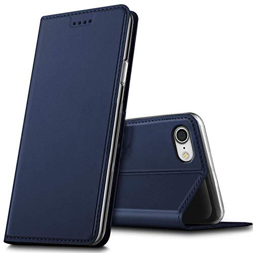 Verco Handyhülle für iPhone 8, iPhone SE 2020 Hülle Premium Handy Flip Cover für Apple iPhone 7/8 Hülle [integr. Magnet] Book Hülle PU Leder Tasche (4,7 Zoll), Blau