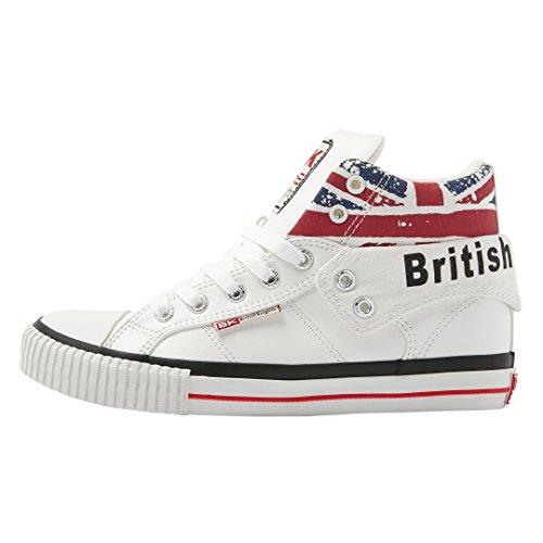 British Knights Unisex-Erwachsene ROCO Hohe Sneaker, Weiß (White/Union Jack 1), 38 EU