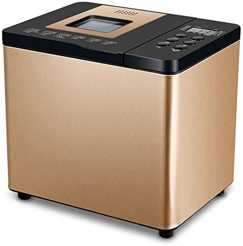 Mnjin Haushaltsautomatische Brotbackmaschine Glutenbrotmaschine, digitaler Brotbackautomat mit 21 voreingestellten Funktionen, Verzögerungstimer und Warmhalten (Größe: 275210259mm)