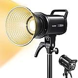 【Godox正規代理店】GODOX SL100BI 2色LEDビデオライト100W撮影定常光 2800-6500K スタジオ照 32100lux@1m CRI96+ TLCI97+ 11種類の照明効果 120°ビーム角 ボーエンズマウント アプリとリモコン制御可能