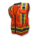 Radians SV55-2ZOD-L Industrial Safety Vest, Hi Viz Orange, Large