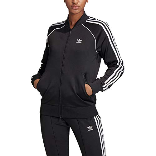 adidas Damen Jacke Primeblue SST Originals, Black/White, 34, GD2374