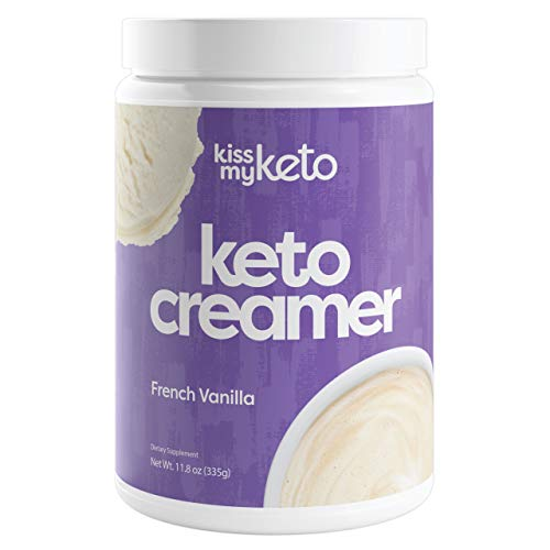 Kiss My Keto Creamer — French Vanilla Flavor | Low Carb Keto Coffee Creamer + MCT Oil Powder C8 (9g) | Sugar Free, Ketogenic Creamer for Coffee & Tea, Keto Shakes (30 Servings)