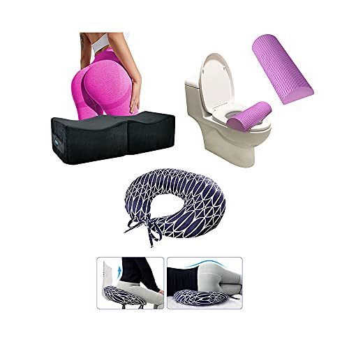 BBL Pillow After Surgery Recovery Kits for Sleeping Sitting Toilet Foam Lifting Cushion/ Brazilian Butt Lift Pillow Post Surgery Recovery for Sitting Sleeping Driving Booty Butt Pillow for Woman Lumba