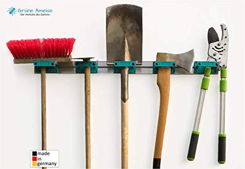Grüne Ameise Abschließbarer Gerätehalter zur Aufbewahrung von Werkzeug, Besen, Gartengeräte und weiterem Zubehör (inkl. Schrauben und Dübel)