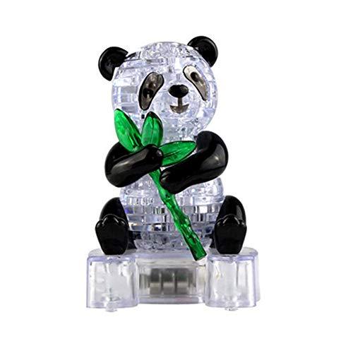 Ogquaton Kristall niedlichen Panda Modell Puzzle Kinder Spielzeug DIY gebäude Spielzeug Geschenk Gadget 3D Puzzle langlebig und nützlich