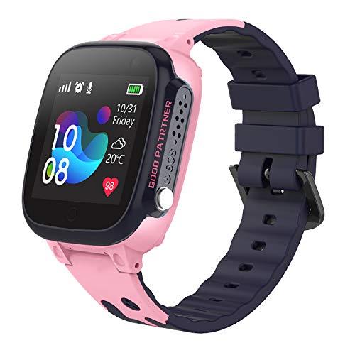 Reloj Inteligente Smartwatch para Niños - IP67 Impermeable Reloj Inteligente Niña, AGPS LBS Tracker, Reloj del Teléfono SOS Chat de Voz Reloj de Cámara, Smartwatch Regalo para Niño Niña Estudiante