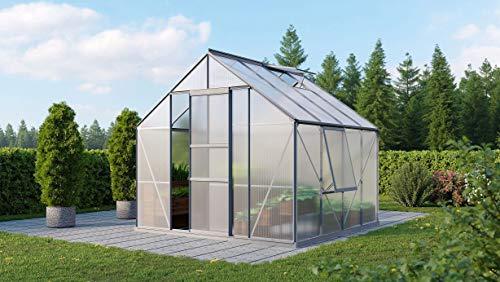 Vitavia Meridian 1 6700 HKP 6 mm Gewächshaus 2 Dachfenster 1 Seitenfenster Hobbygärtner