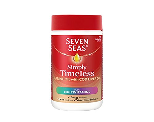 3 x Seven Seas Pure Cod Liver Oil Plus A-Z Multivitamins One-a-Day 90 Capsules