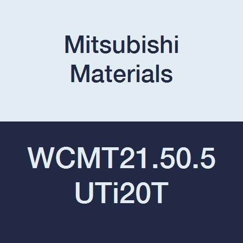 "Mitsubishi Materials WCMT21.50.5 UTi20T Coated Carbide WC Type Turning Insert with Hole, Trigon, Grade UTi20T, 0.25"" IC, 0.094"" Thick, 0.008"" Corner Radius, Standard Breaker (Pack of 10)"