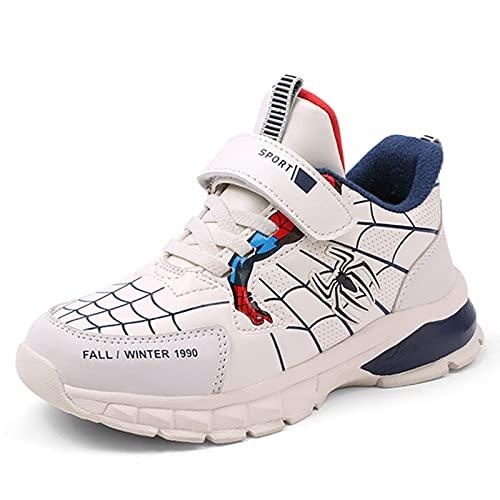 YICHUAN Spiderman Zapatillas De Deporte Ligeras Y Transpirables para Niños Zapatillas Deportivas Cómodas Impermeables,Beige-37EU