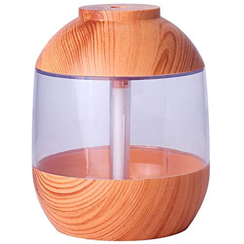 WOVELOT 700Ml Humidificador de Grano de Madera USB MáQuina de Aromaterapia de Tanque de Agua Grande Medidor de Agua MáQuina de Aromaterapia para Oficina en el Hogar con Grano Claro