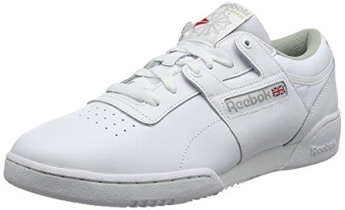 Reebok Herren Workout Low Gymnastikschuhe, Weiß (Int/White/Grey Int/White/Grey), 43 EU