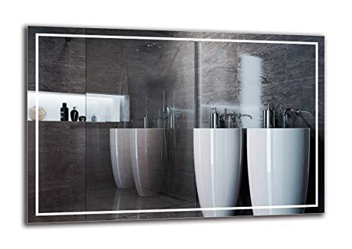 Espejo LED Premium - Dimensiones del Espejo 120x80 cm - Espejo de baño con iluminación LED - Espejo de Pared - Espejo de luz - Espejo con iluminación - ARTTOR M1ZP-48-120x80 - Blanco frío 6500K