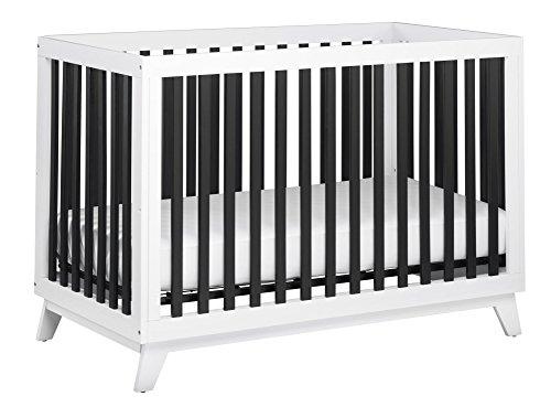 Little Seeds Rowan Valley Flint Crib, Black/White