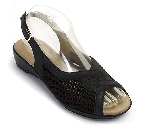 Arcopedico Black Ema Sandal 8-8.5 M US