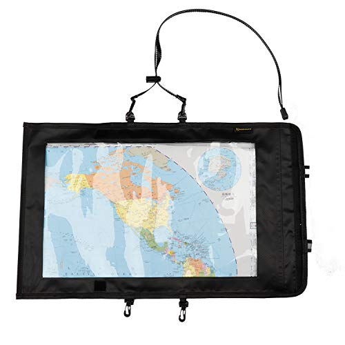 Kosibate Map Case, Waterproof Military Hiking Map Pouch Holder with Clear Window & Lanyard