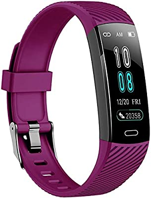 Fitness Trackers-Activity Tracker Watch with Heart Rate Blood Pressure Monitor, Waterproof Watch with Sleep Monitor, Calorie Step Counter Watch for Kids Women Men Compatible Android iPhone Smartphone