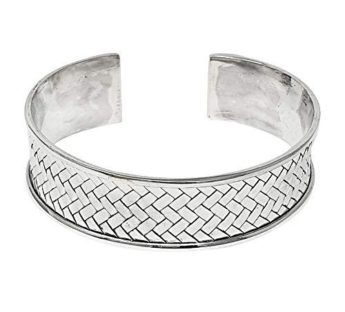 TreasureBay Damen-Armreif Sterling-Silber 925 geflochten