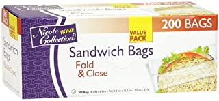 Sandwich Bags Value Pack 200 Count Fold & Close Bags