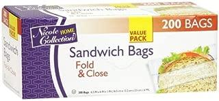 Best colored fold top sandwich bags Reviews