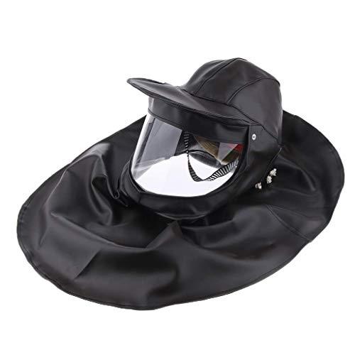 Backbayia Sicherheitshelm Schweißhut Sandstrahlmaske Schutzkappe, grau