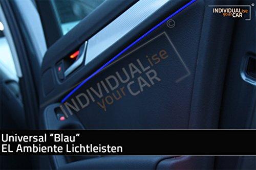 Universal EL Ambiente Lichtleiste Ambientebeleuchtung Innenraumbeleuchtung in 1m, 2m und 3m (1m, Blau)