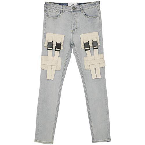 Sixth June Jeans mit Gürtelschlaufen, Blau Gr. 36 DE/XL, blau
