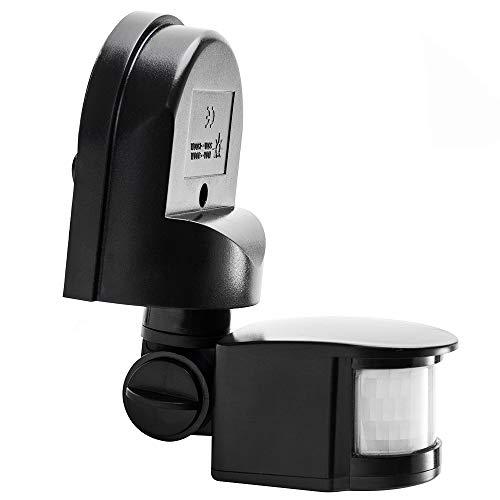 赤外線センサースイッチ モーションセンサー 最大 1200W 屋外/屋内セキュリティ 自動 PIRモーションセンサースイッチ 占有センサースイッチ 壁スイッチ LED 人感センサー 壁取付熱線センサ 高品質 防水 AC 110V キッチン 台所やお手洗い