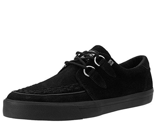 T.U.K. VLK D Ring Creeper Sneaker Black Suede, Unisex, Schwarz - Black Suede - Größe: 43 EU
