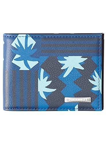 Quiksilver Accesorio de Viaje- Billetera Plegable Triple, Azul