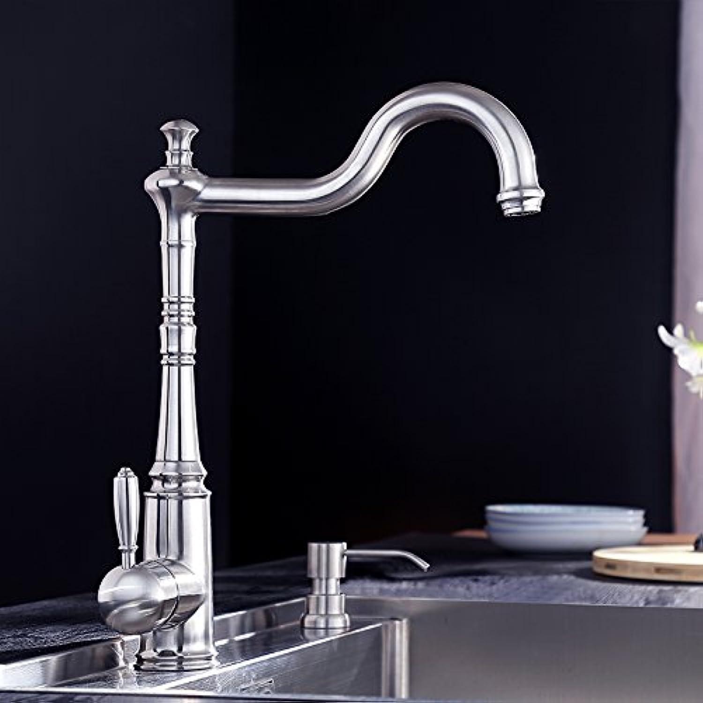 steel kitchen faucet antique faucet retro kitchen basin hot ...